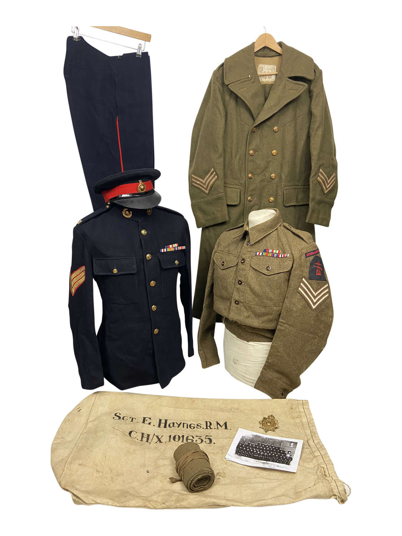 Original WW2 Royal Marine Uniform Grouping to Sergeant Eric Haynes