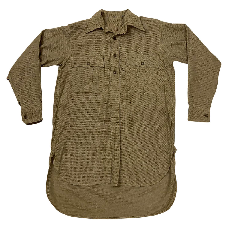 Original 1941 Dated British Army Khaki Drill Shirt - Size 1