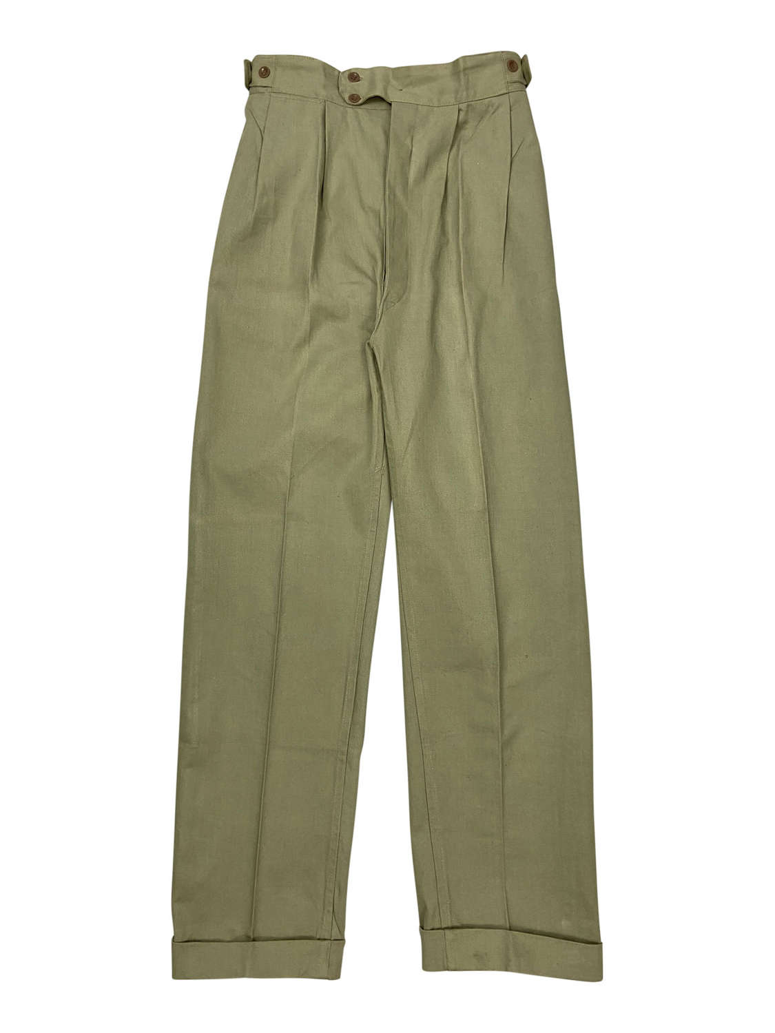 Original Early 1960s British Cotton Drill Trousers by 'Selrig'