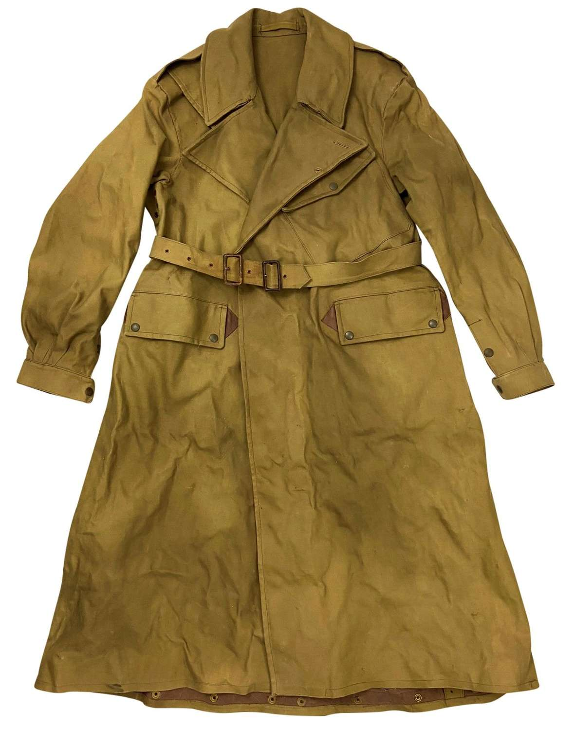 Original 1943 Dated British Army Dispatch Riders Coat - Size 12