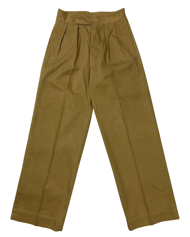 Original 1940s British Officers Khaki Drill Trousers