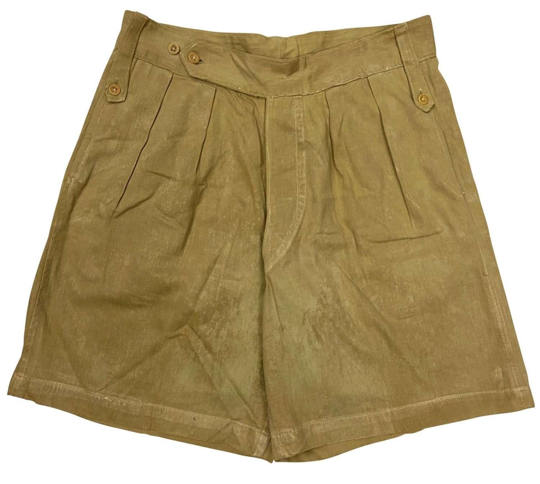 Original 1940s British Army Khaki Drill Shorts - CSM P.T.