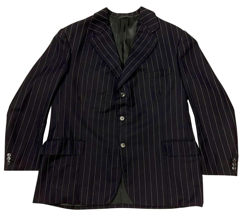 Original 1950s Men's Single Breast Pinstripe Suit Jacket - Large