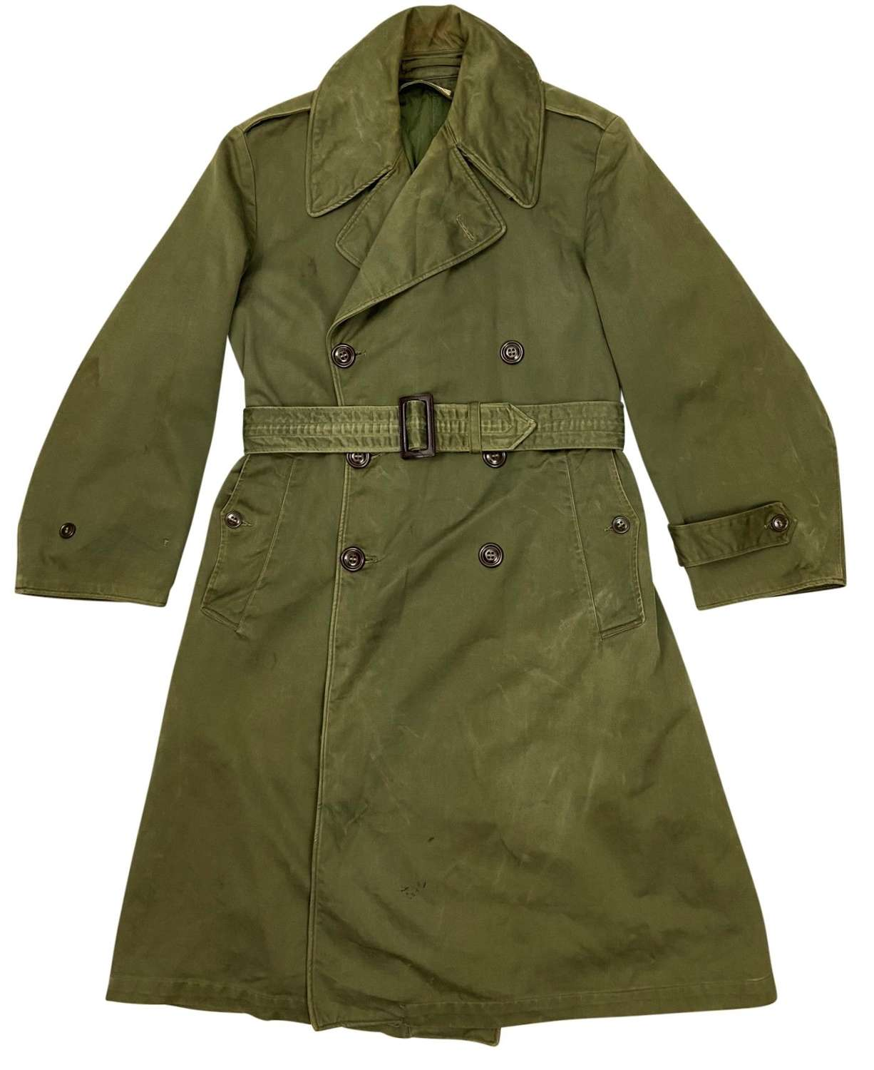 Original 1946 Dated American Army Raincoat - Size Short-Small