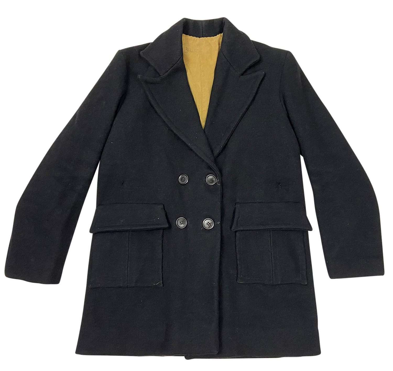 Original 1920s Women's Black Wool Coat