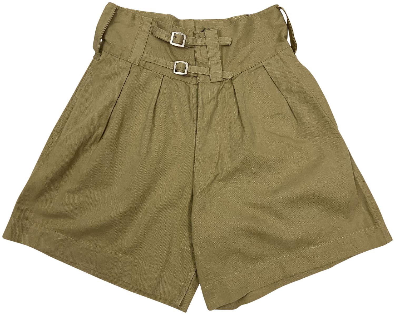 Original 1941 Dated British Army Khaki Drill Bombay Bloomer Shorts