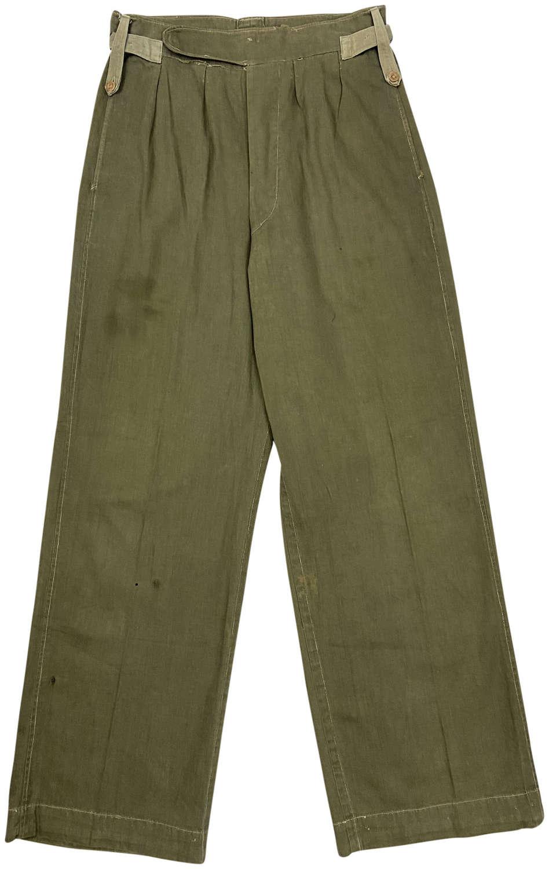 Original 1940s Theatre Made British Jungle Green Trousers
