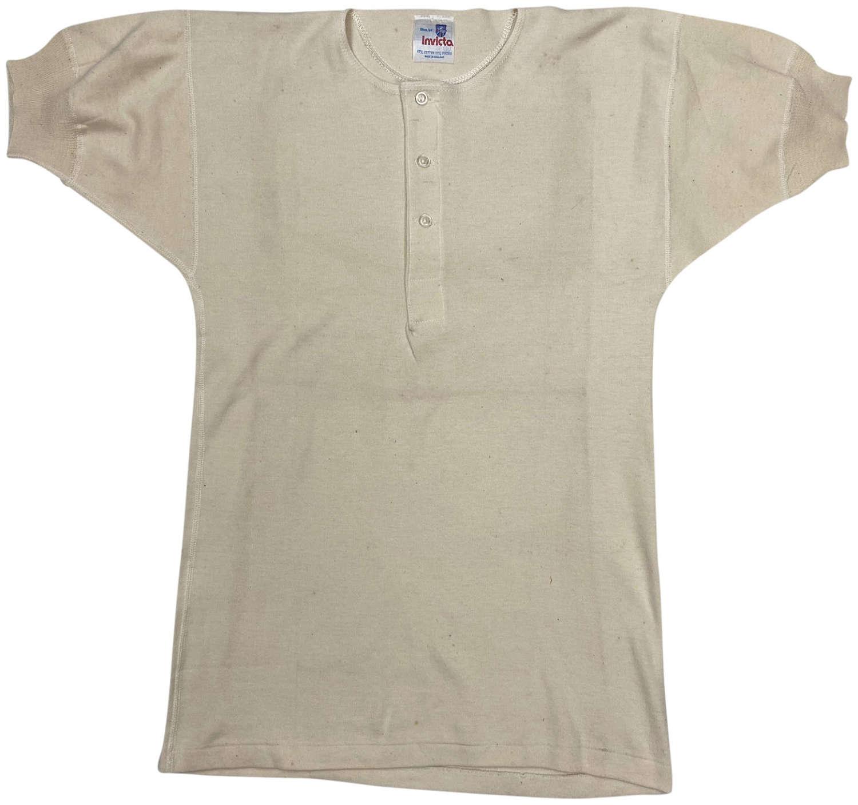Original 1960s Men's Undershirt by 'Invicta' - Size 34