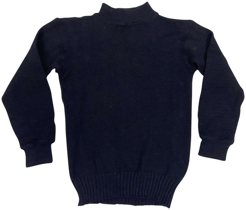 Original 1950s US Navy Blue Wool Jumper