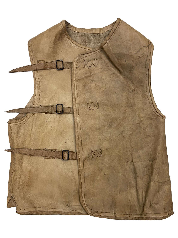Original 1940s Leather Waistcoat with WW2 History