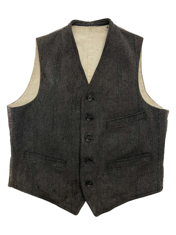 Original 1940s CC41 Workwear Waistcoat