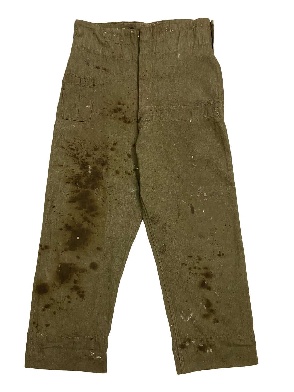 Original Early WW2 British Army Denim Battledress Trousers