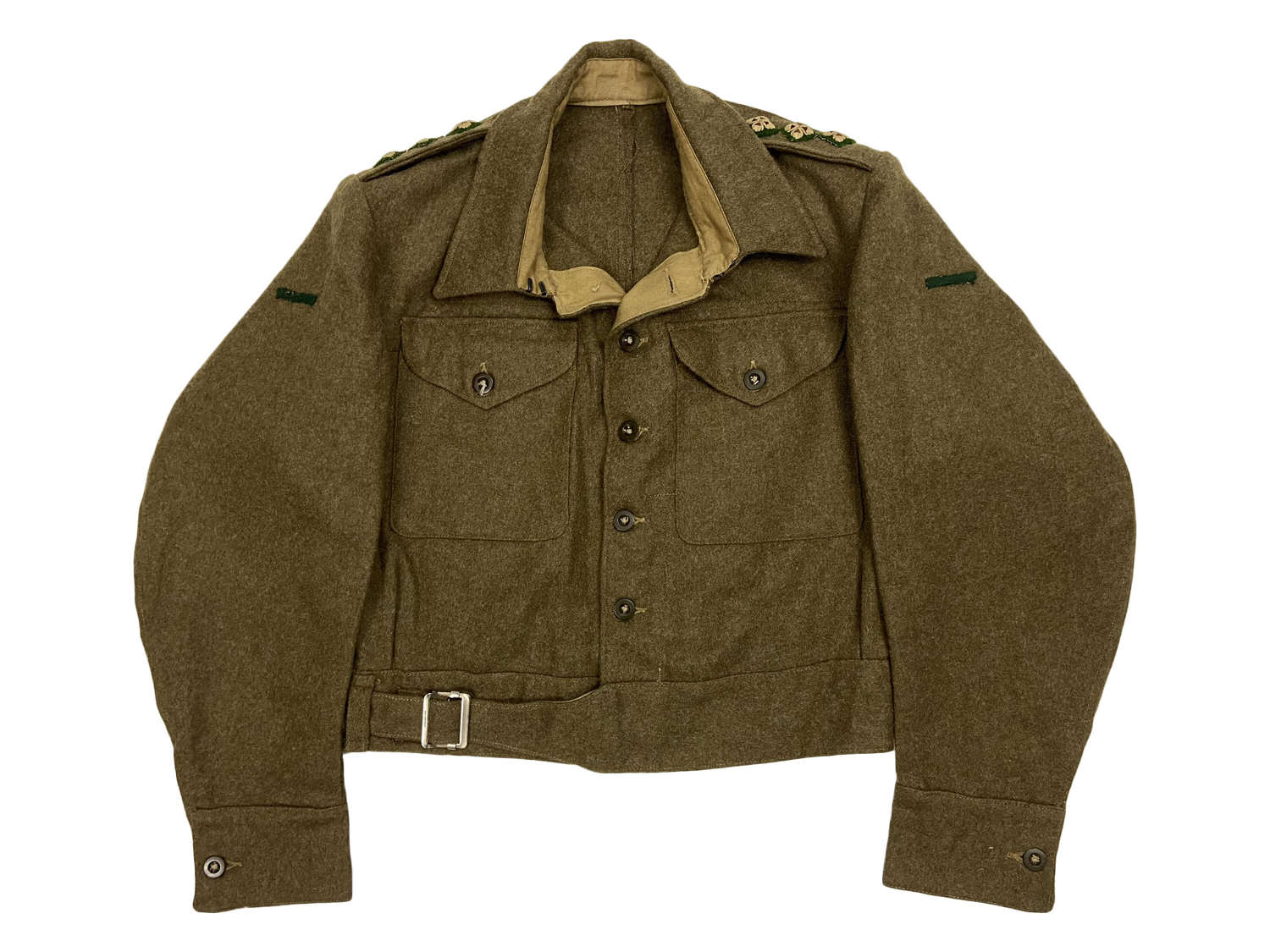 Original 1940 Pattern (Austerity) Battledress Blouse to Captain Karran