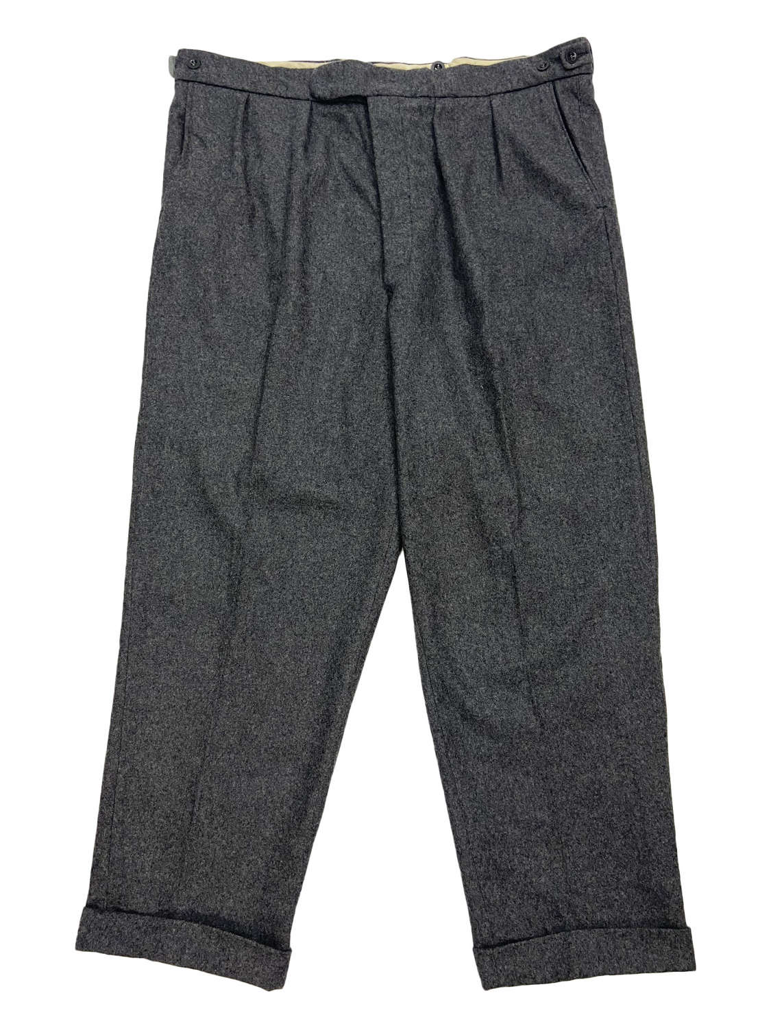 Original 1950s Grey Flannel Trousers by 'West of England'