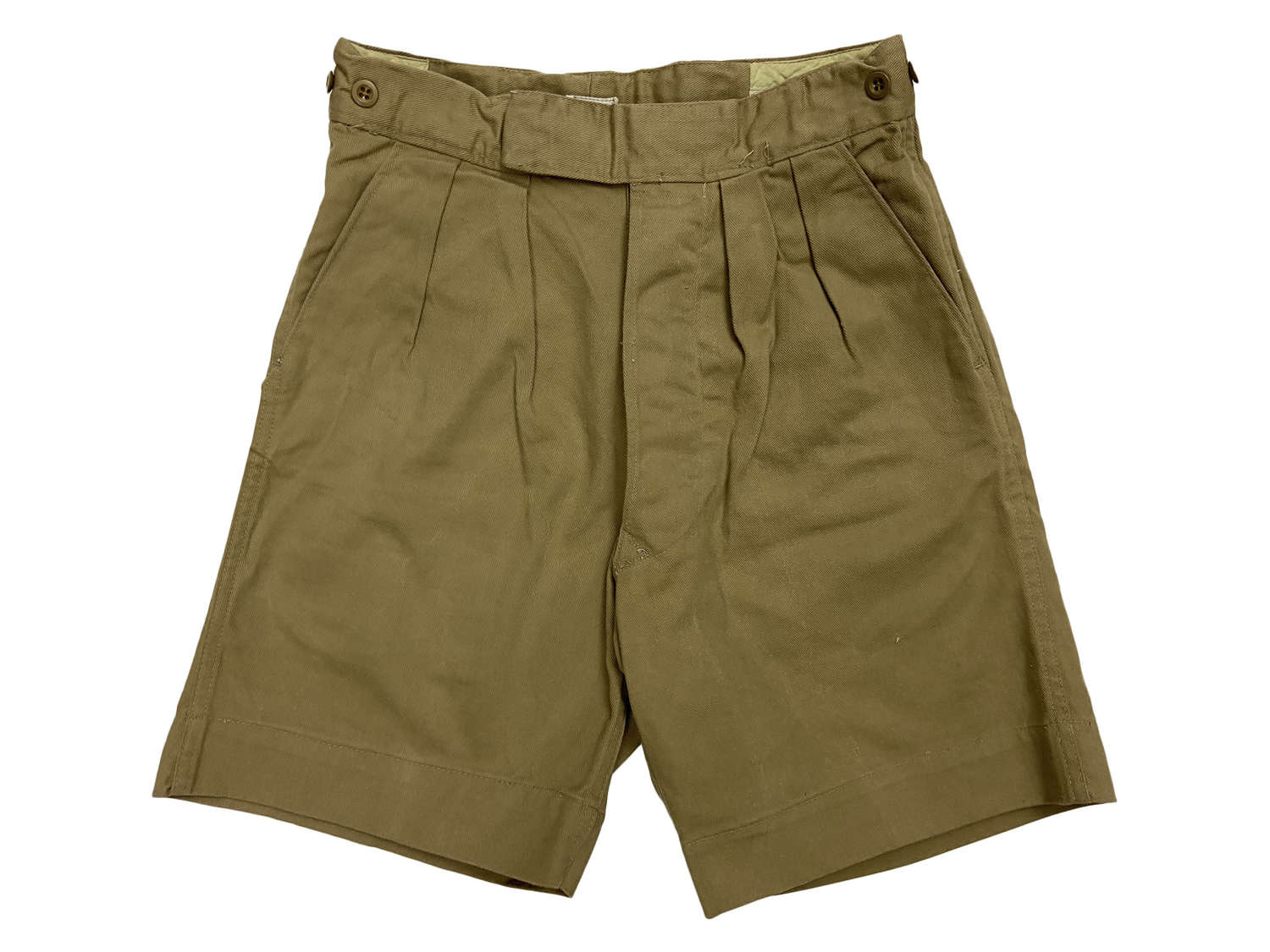 Original 1950s Khaki Drill Shorts by 'Turbex'
