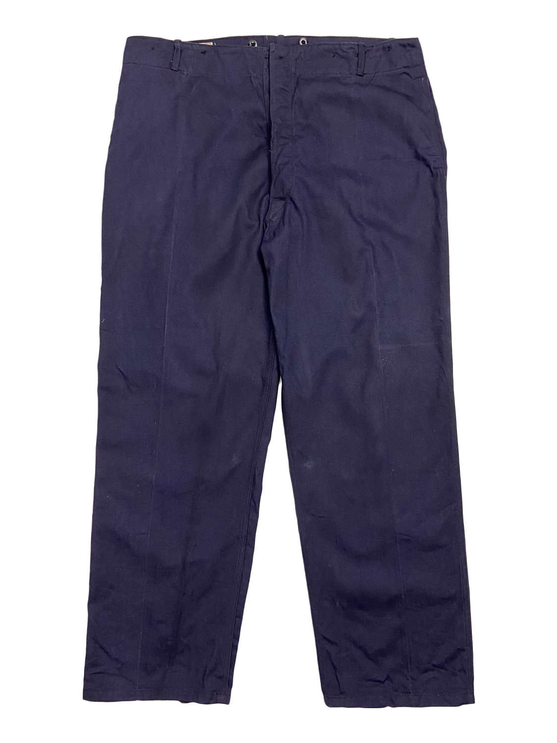 Original 1950s Navy Blue British Work Trousers by 'Holdfast'