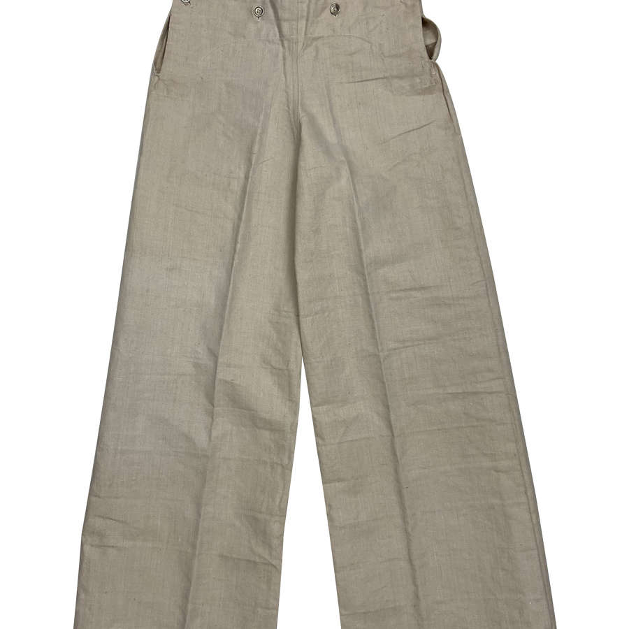 Original WW2 Royal Navy White Duck Cotton Trousers