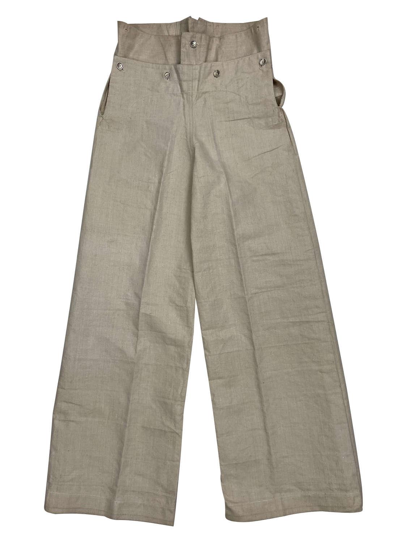 Original WW2 Royal Navy White Duck Cotton Trousers