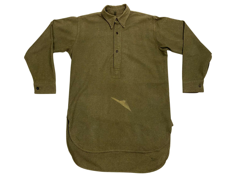 Original 1944 Dated British Army Collared Shirt