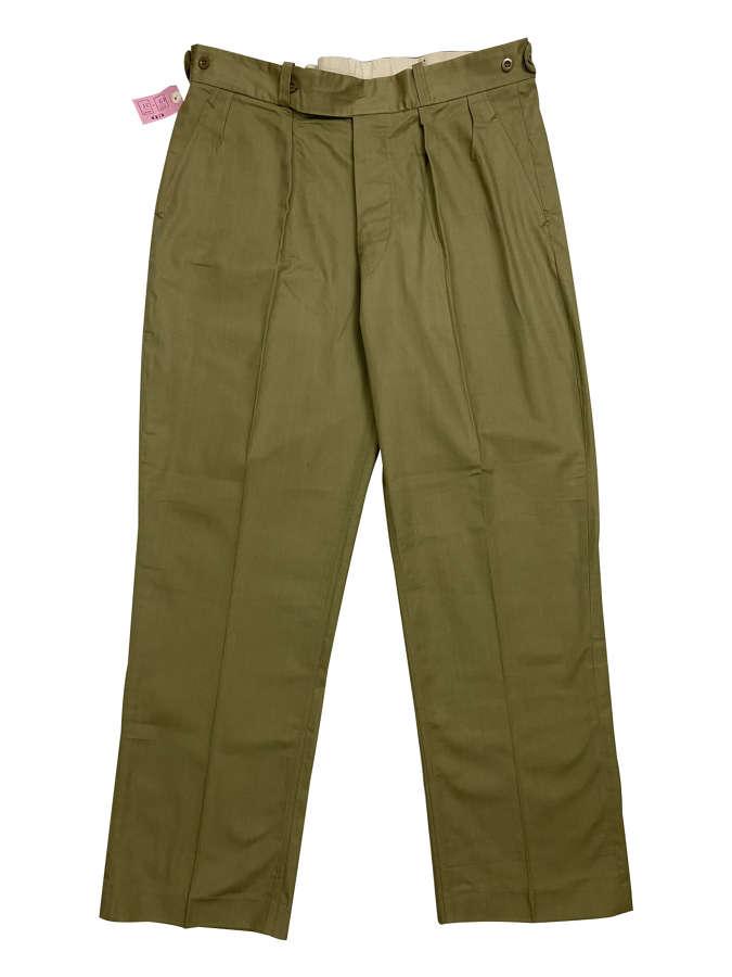 Original 1960s British Cotton Drill Trousers - Size 40