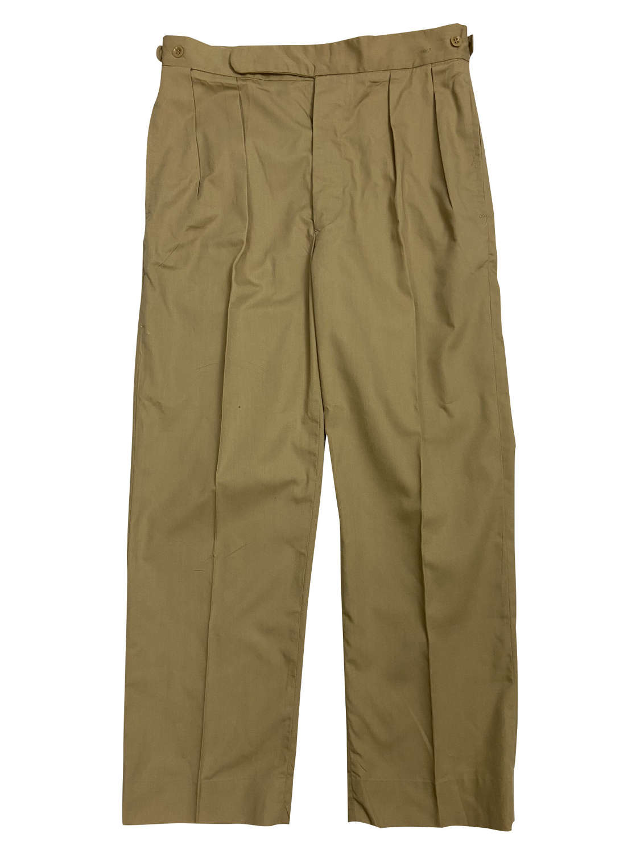 Original 1968 Dated British Military Khaki Drill Trousers