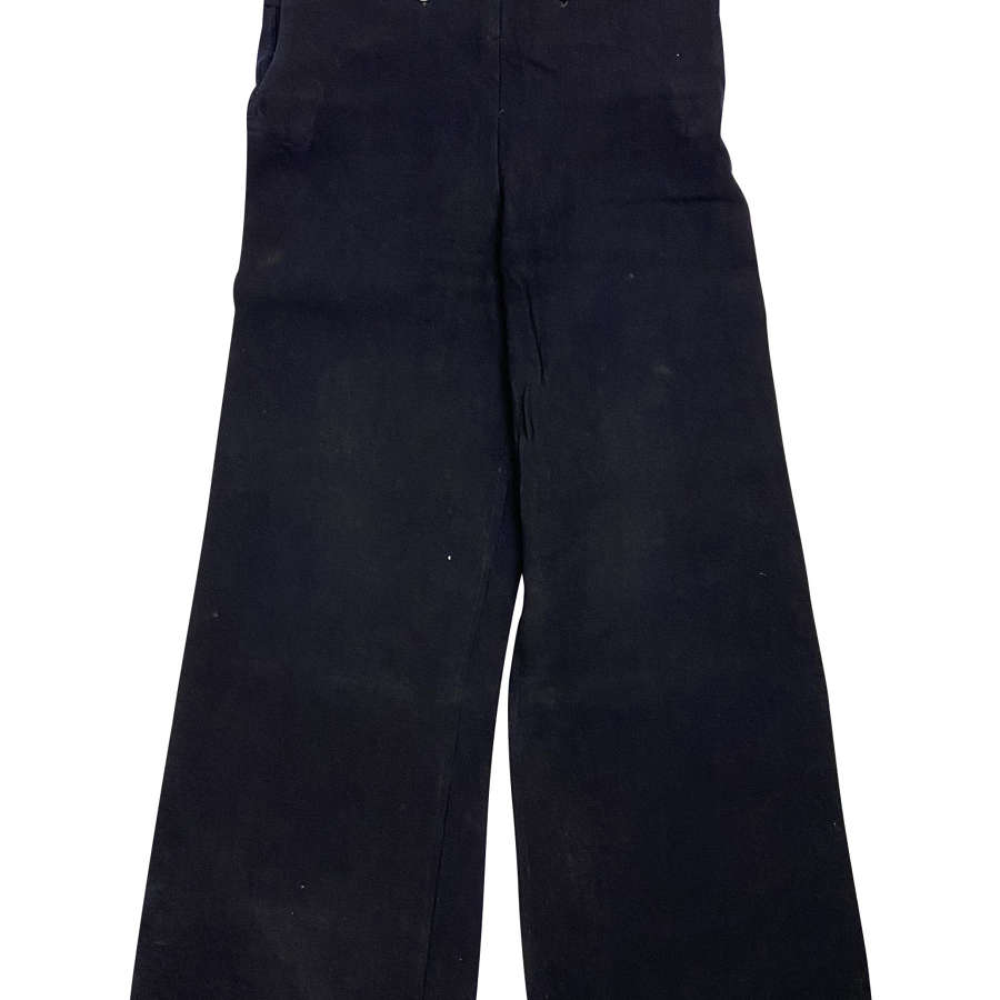 Original WW2 Royal Navy Bell Bottom Serge Trousers
