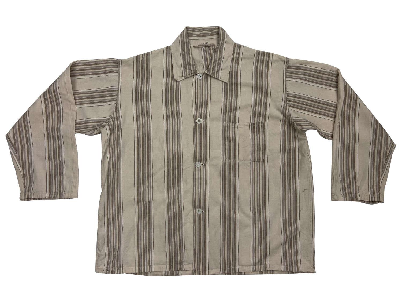 Original 1940s Striped Pyjama Top