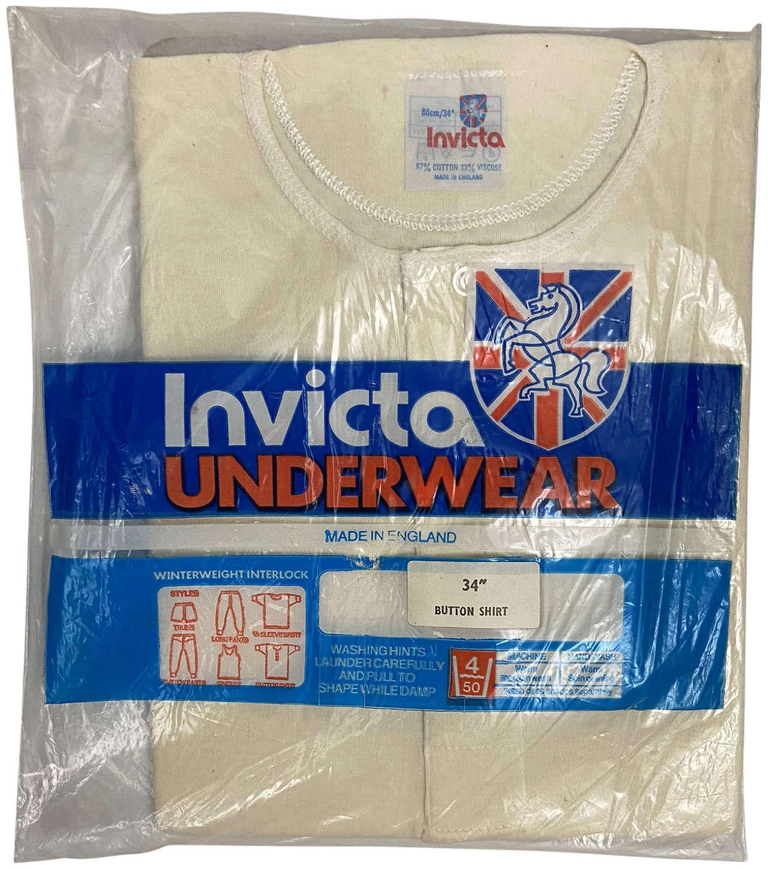 Original Men's Three Button Undershirt by 'Invicta' - Red/Blue Label