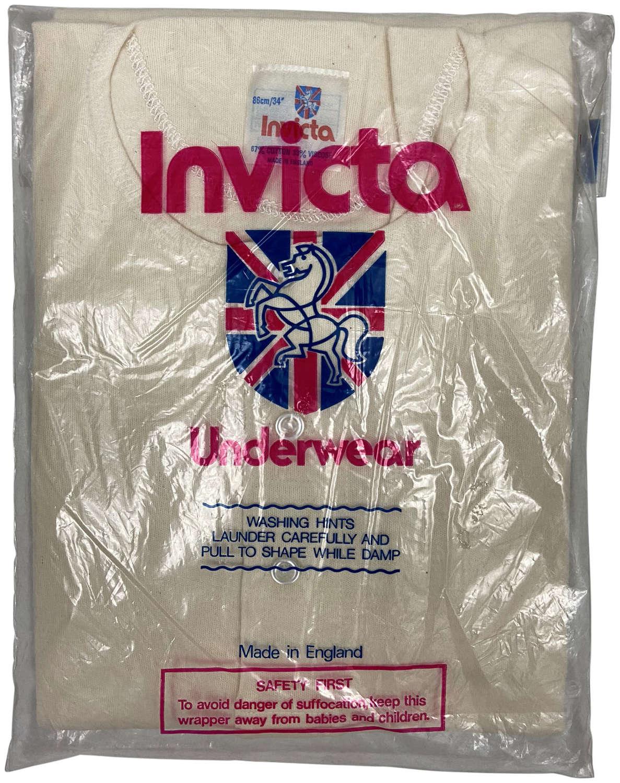 Original 1960s Men's Three Button Undershirt by 'Invicta' - Red Label