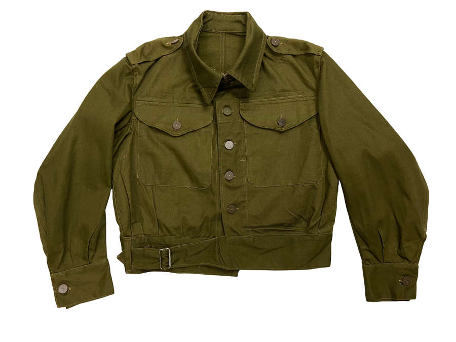 Original 1944 Dated British Army Denim Battledress Blouse - Size 2