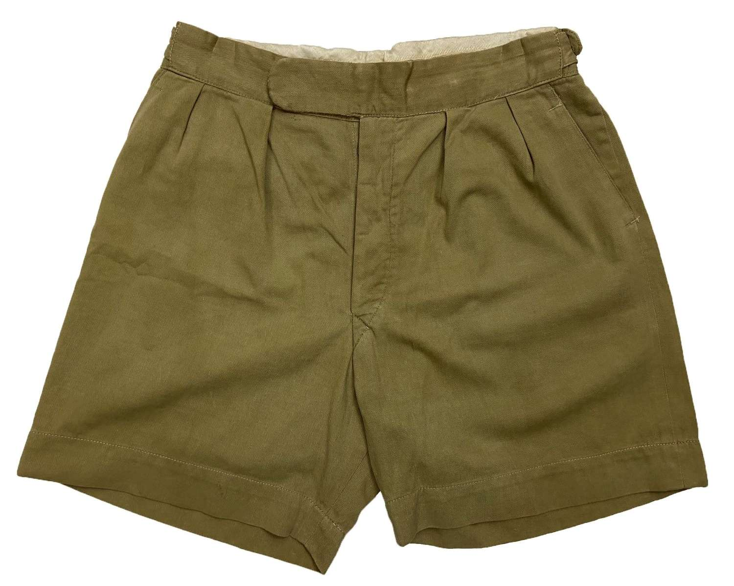 Original 1950s Men's Khaki Drill Shorts by 'Bukta'