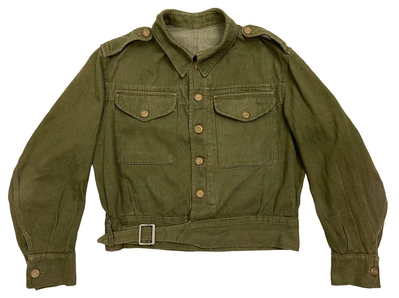 Original 1945 Dated British Army Denim Battledress Blouse - Size 8