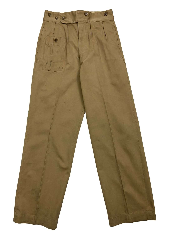 Original WW2 British Army War Aid Battle Dress Trousers - Size 1
