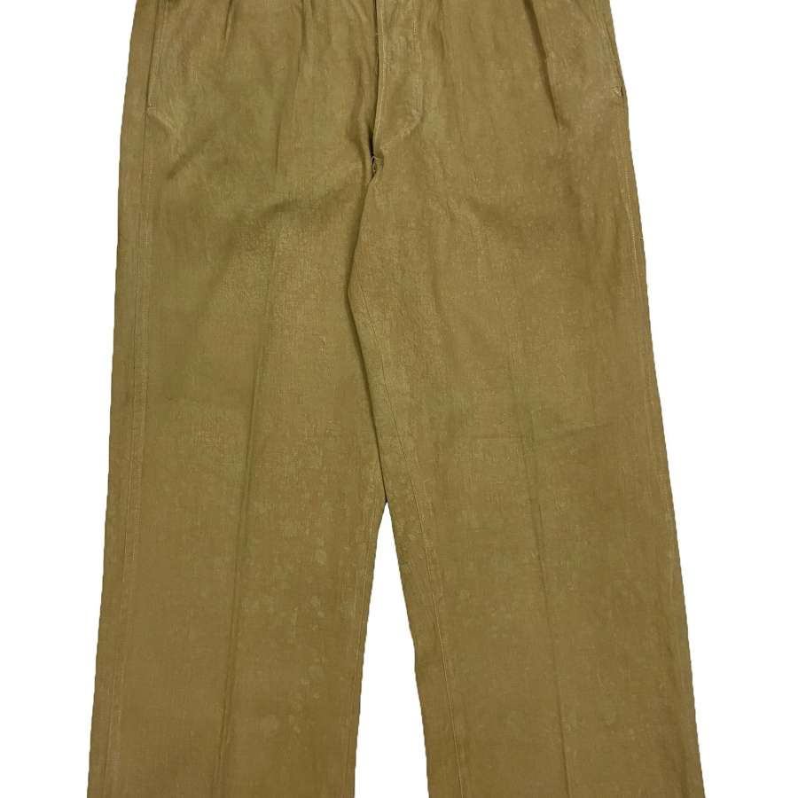 Original 1940s Indian Made Khaki Drill Trousers