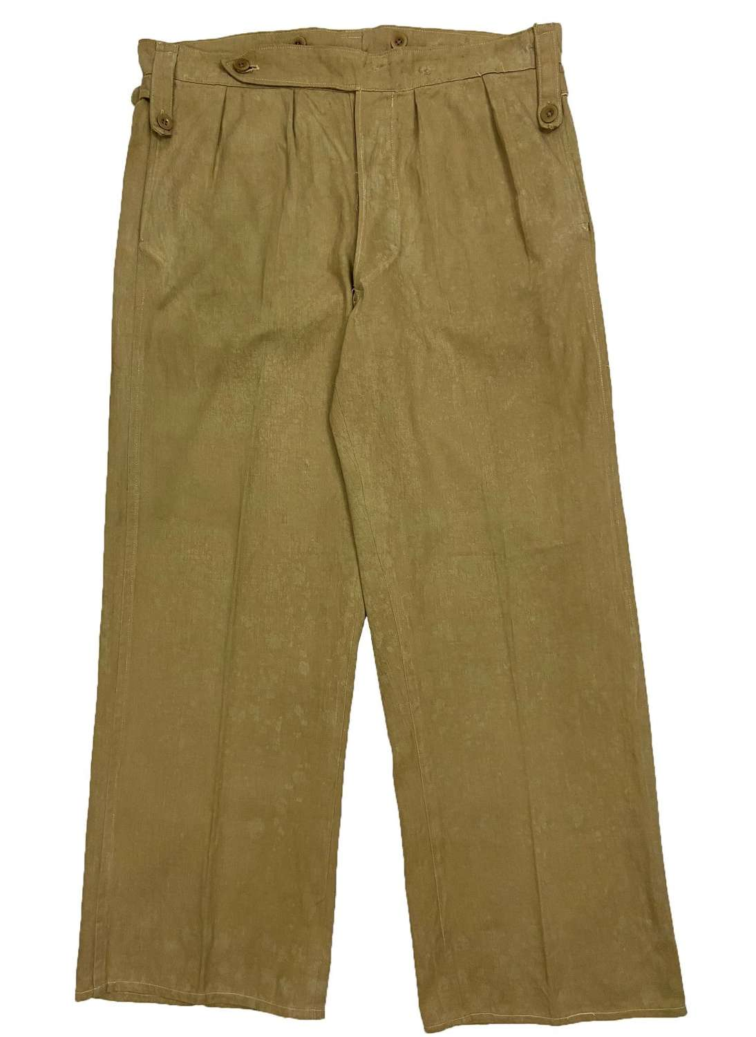 Original 1940s Indian Made Khaki Drill Trousers