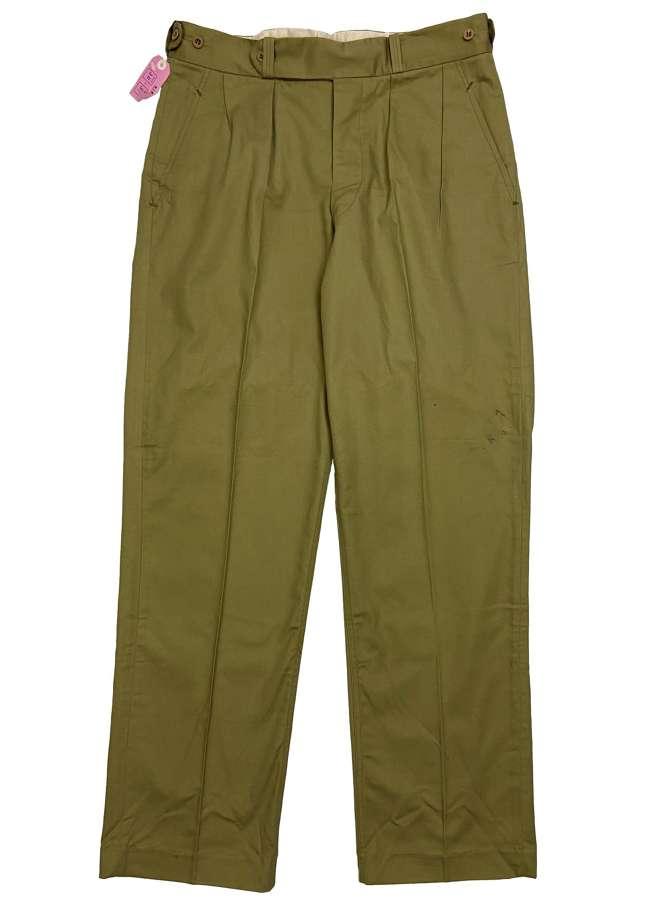 Original 1960s British Cotton Drill Trousers - Size 38x33