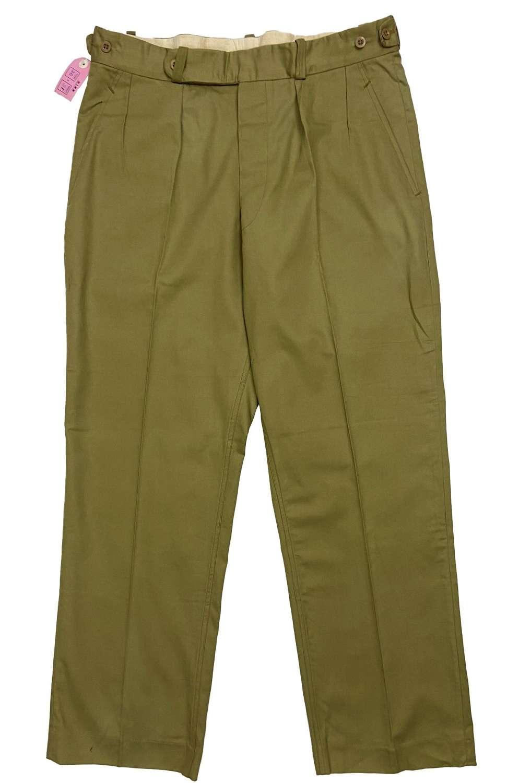 Original 1960s British Cotton Drill Trousers - Size 38x31