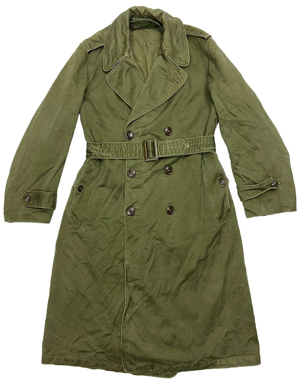 Original 1958 Dated US Army O.G 107 Raincoat - Size Small Regular