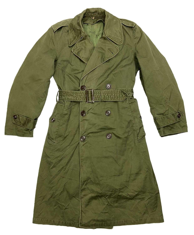 Original 1958 Dated US Army O.G 107 Raincoat - Size Regular Small