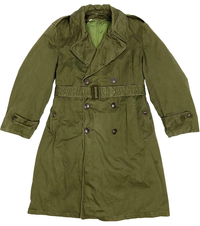 Original 1952 Patten US Army O.G 107 Raincoat - Size Short Medium