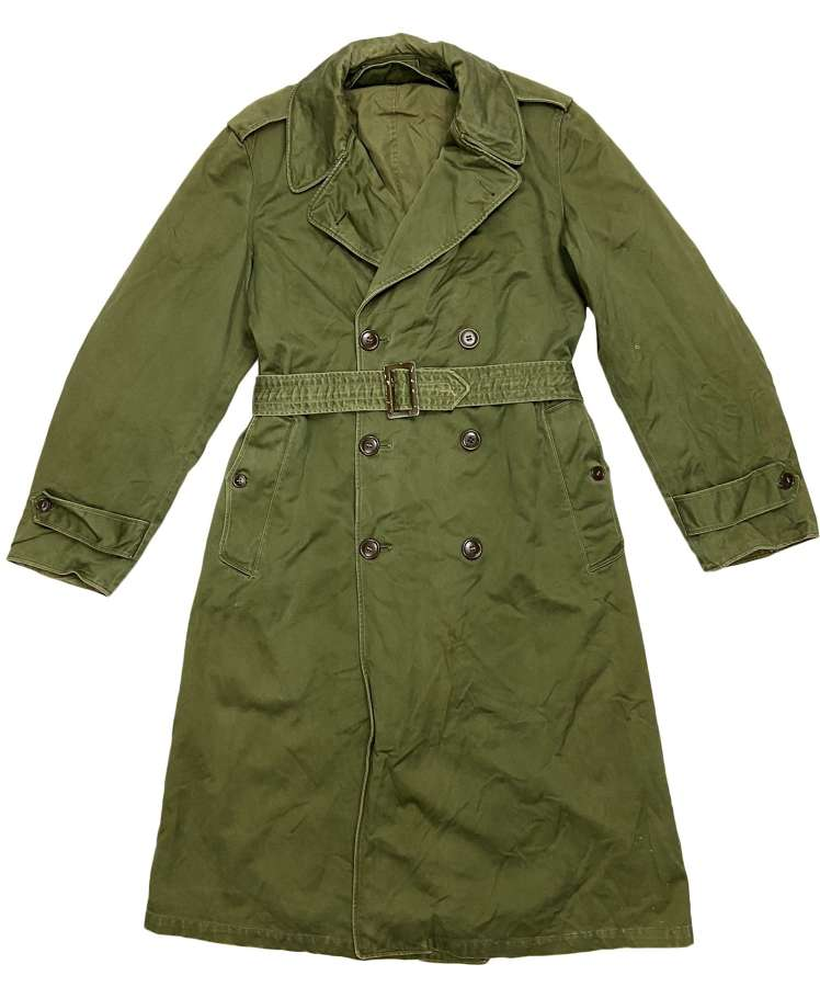 Original 1958 Dated US Army O.G. 107 Raincoat - Size Small Long