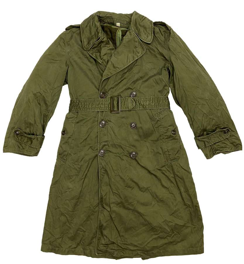 Original 1953 Dated US Army O.G. 107 Raincoat - Size Short - Small