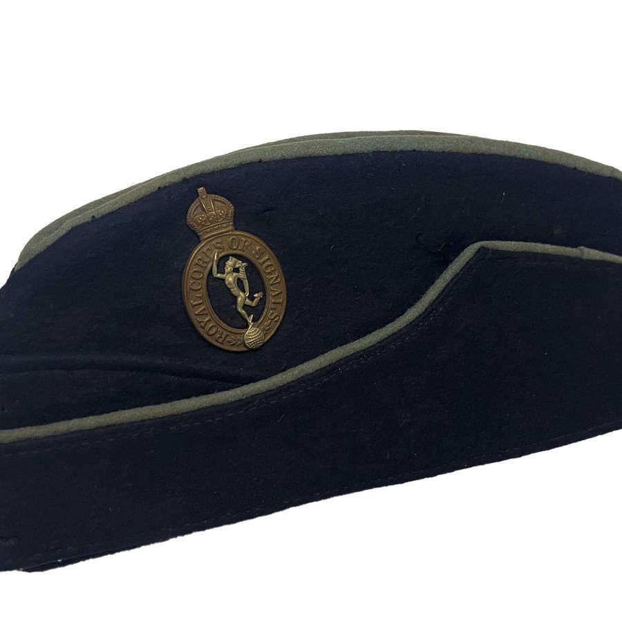 Original WW2 Royal Corps of Signals Coloured Field Service Cap