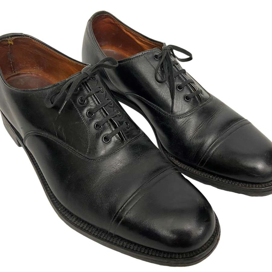 Original RAF Officers Black Oxford Shoes by 'Alkit'