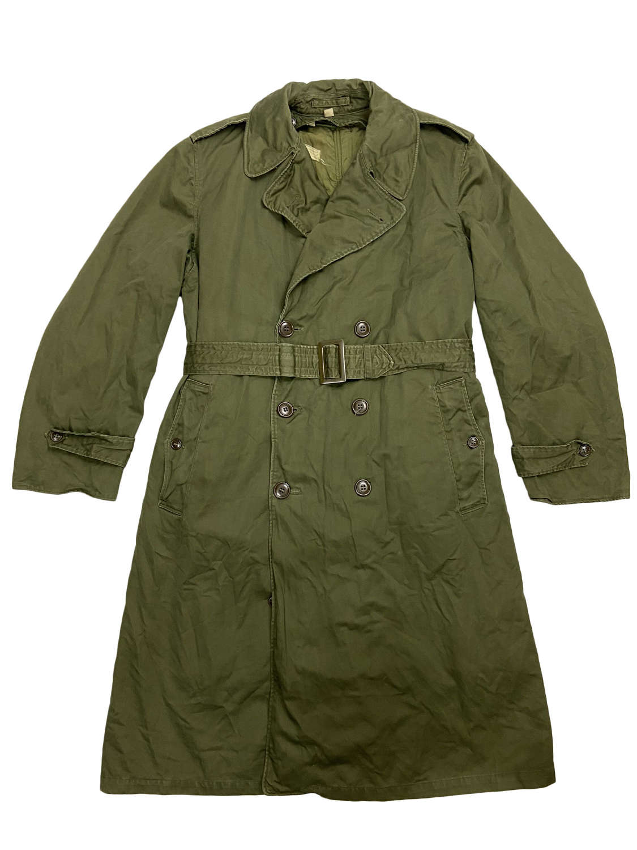Original 1953 Dated US Army O.G. 107 Raincoat - Size Reg - Med