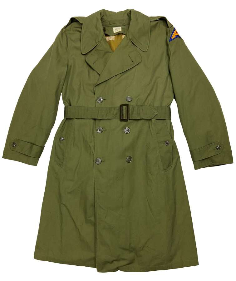 Original 1960s US Army O.G. 107 Raincoat - Size Regular Medium
