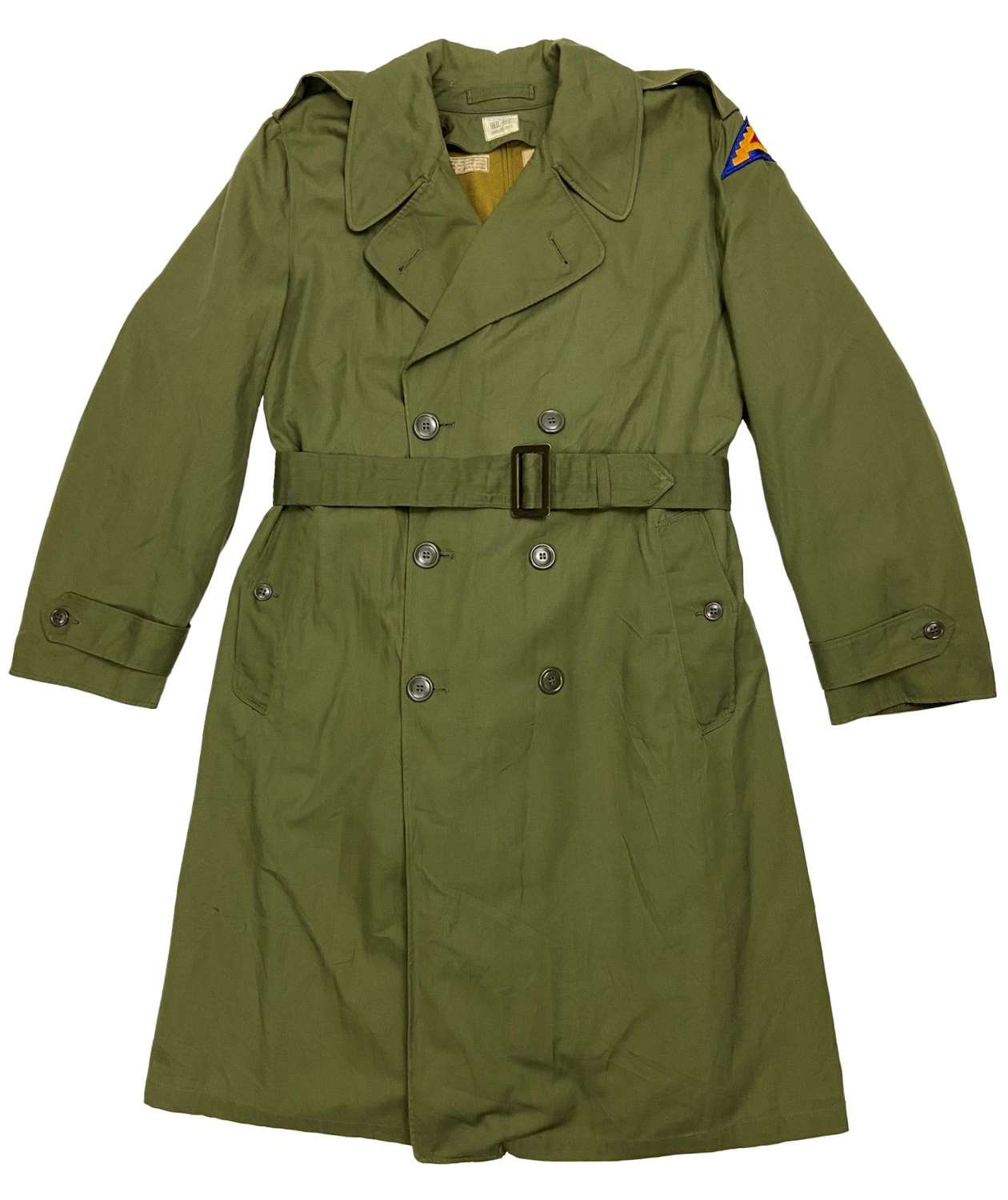 Original 1960s US Army O.G. 107 Raincoat - Size Regular Medium