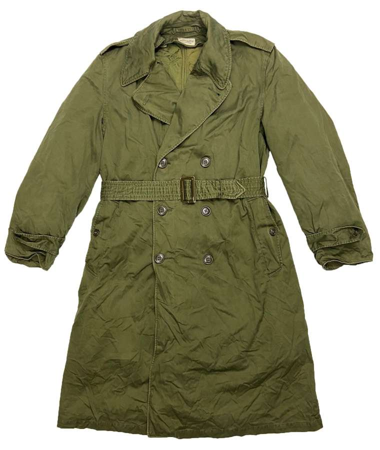 Original 1955 Dated US Army O.G. 107 Raincoat - Size Medium Regular