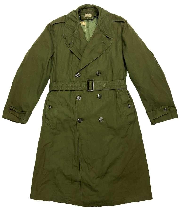 Original 1960s US Army O.G. 107 Raincoat - Size Medium Long