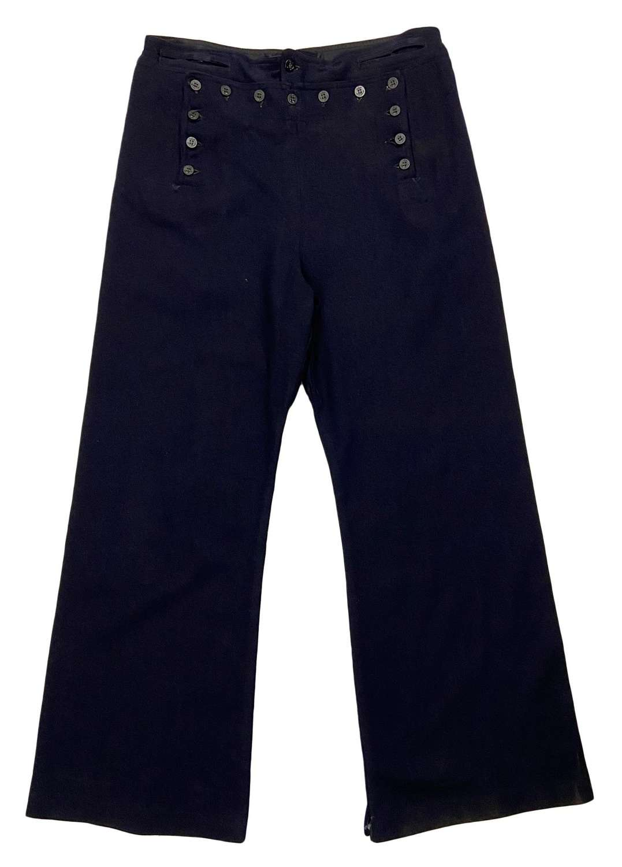 Original Vietnam War US Navy Cracker Jack Bell Bottom Trousers